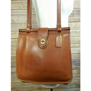 Vintage Coach Brown Leather Weston Shopper Tote
